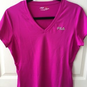 Fila hot pink work out short sleeve